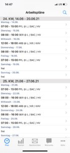 MEP24team App Arbeitsplan